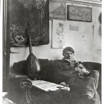 Self-portrait in his studio December 1910 Gelatin silver print, cm 14,7 x 11,6 - Masterpiece from the Musée National Picasso Paris to be held at Palazzo Reale in Milan from September  2012 to January 2013  © Succession Picasso by SIAE 2012