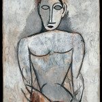 """Pablo Picasso Femme aux mains jointes (Etude pour """"Les demoiselles d'Avignon"""") Primavera 1907 Olio - Masterpiece from the Musée National Picasso Paris to be held at Palazzo Reale in Milan from September  2012 to January 2013  © Succession Picasso by SIAE 2012"""