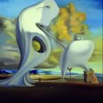 """Salvador Dalì - Salvador Dalì """"Angelus"""" architettonico di Millet """"Angelus"""" architectonic of Millet 1933 Olio su tela 73 x 60 cm Museo Nacional Centro de Arte Reina Sofía, Madrid © Archivio fotografico Museo Nacional Centro de Arte Reina Sofía, Madrid © Salvador Dalí, Fundació Gala-Salvador Dalí, SIAE, Roma, 2012"""