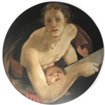 Adolfo Wildt - 1.Bronzino, San Matteo, 1525-28, olio su tavola, diam. cm. 76/77,2. Firenze, Chiesa di Santa Felicita, Cappella Capponi.
