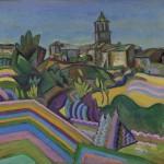 I Giganti dell'Avanguardia - 1.Joan Miró: Prades, Il paese (Prades, el poble), estate 1917 Olio su tela 65 x 72,6 cm Museo Solomon R. Guggenheim, New York
