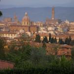 Veduta del centro storico dal parco di villa Strozzi