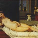 Tiziano Venere di Urbino 1538 olio su tela, 119x165 cm Firenze, Galleria degli Uffizi - (su concessione del Ministero per i Beni e le Attività Culturali)