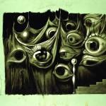"Salvador Dalì - Salvador Dalì Progetto per ""Spellbound"" Set Design for ""Spellbound"" 1945 ca Olio su cartone 88,8 x 113,1 cm  Collezione Fundació Gala Salvador-Dalí, Figueres © Salvador Dalí, Fundació Gala-Salvador Dalí, SIAE, Roma, 2012"