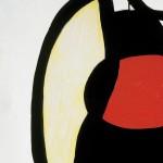 Joan Miró Femme dans la rue, 1973 Olio, guazzo e acrilico su tela, 195 x 130 cm Fundació Pilar i Joa - Foto: © Joan Ramón Bonet & David Bonet / Cortesía Archivo Fundació Pilar i Joan Miró a Mallorca
