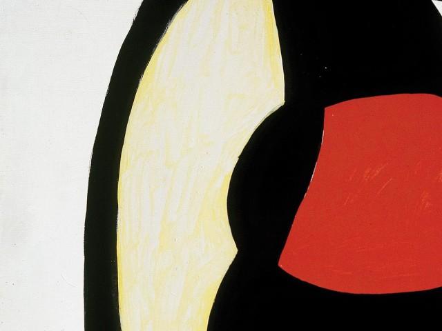 Joan Miró Femme dans la rue, 1973 Olio, guazzo e acrilico su tela, 195 x 130 cm Fundació Pilar i Joa