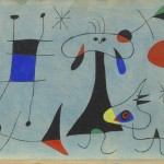 I Giganti dell'Avanguardia - 2.Joan Miró: Personaggio, cane, uccello, 1946 Guazzo e acquerello su carta 21 x 31,1 cm Museo Solomon R. Guggenheim, New York
