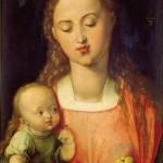 Adolfo Wildt - 3.Albrech Dürer, Madonna della pera, 1526, olio su tavola, cm. 43x31. Firenze, Galleria degli Uffizi