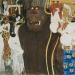 Gustav Klimt Fregio di Beethoven (particolare), 1901-1902 Materiali vari - Vienna Belvedere © Belvedere, Vienna