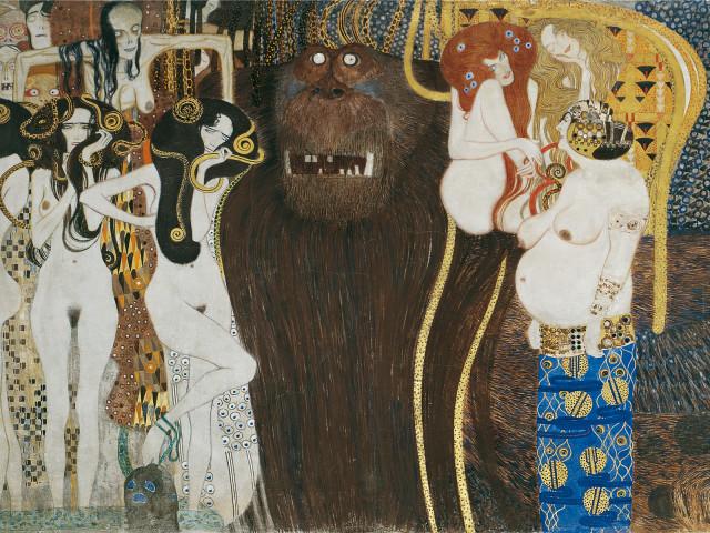 Gustav Klimt Fregio di Beethoven (particolare), 1901-1902 Materiali vari