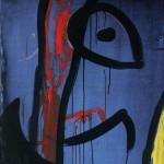 Joan Miró Senza Titolo, n.d. Acrilico su tela, 162,5 x 130,5 cm Fundació Pilar i Joan Miró, Mallorca - Foto: © Joan Ramón Bonet & David Bonet / Cortesía Archivo Fundació Pilar i Joan Miró a Mallorca