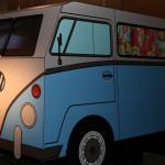 furgoncino Steve - Ricostruzione del furgoncino Volkswagen di Steve Jobs, tipico della cultura hippy: Steve ne possedeva uno dall'età di 18 anni (credit: Dario Dinocca)