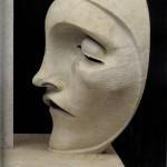 Adolfo Wildt - 6.Adolfo Wildt, Monumento funebre ad Aroldo Bonzagni, 1919, marmo, h. cm. 203. Cento, Galleria d'Arte Moderna Aroldo Bonzagni