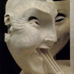 Adolfo Wildt - 7.Adolfo Wildt, Monumento funebre ad Aroldo Bonzagni, 1919, marmo, h. cm. 203. Cento, Galleria d'Arte Moderna Aroldo Bonzagni