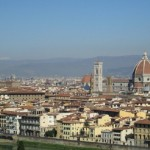 Arno and Duomo in Florence