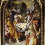 Federico Barocci (1535-1612) Entombment, 1579-82 Oil on canvas 295 x 187 cm Diocesi di Senigallia - - Barocci, Federico (1526-1612): Trasporto di Cristo al sepolcro. Senigallia, Chiesa della Croce*** Permission for usage must be provided in writing from Scala. ***  Oil on Canvas 295 x 187 cm