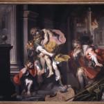 Aeneas Fleeing Troy, 1598 - oil on canvas   179 x 253 cm