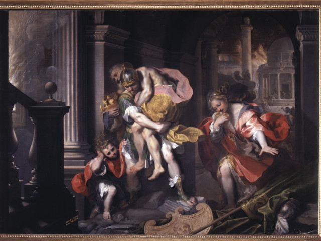 Aeneas Fleeing Troy, 1598