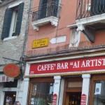 photo by Margie Miklas - Caffe` Bar Ai Artisti Campo San Barnaba