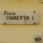 Corso Umberto sign - Photo by Margie Miklas
