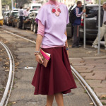 Milan Fashion Week Street Style - Elisa outside the Gucci show at Milan Fashion Week wearing Mila Schon