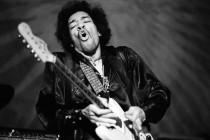 Jimi Hendrix, febbraio 1968, foto di Jean-Marie Perier