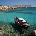 The coastline of Spargi, island in the archipelago of La Maddalena, Sardinia