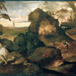 Tiziano 3 - Titian (1477/89-1576): Orpheus and Eurydice. Bergamo, Accademia Carrara*** Permission for usage must be provided in writing from Scala.