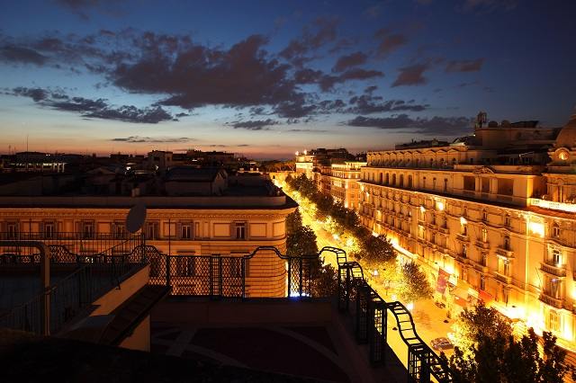 View of Rome from the Penthouse Suite at Baglioni Hotel Regina Photo by Baglioni Hotels