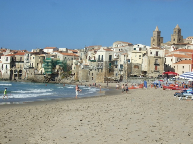 Beach at Cefalu`, Italy - Photo by Margie Miklas