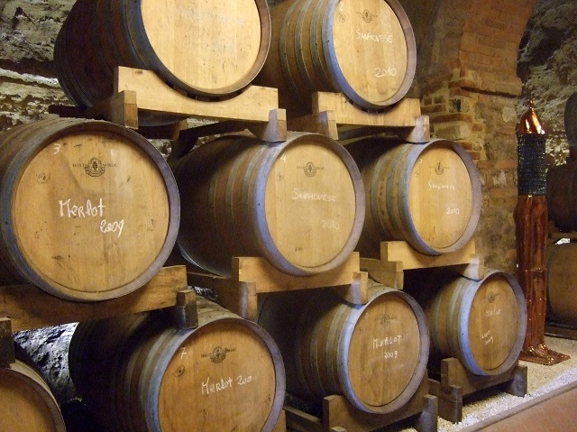 Photo by Margie Miklas  Wine Barrels