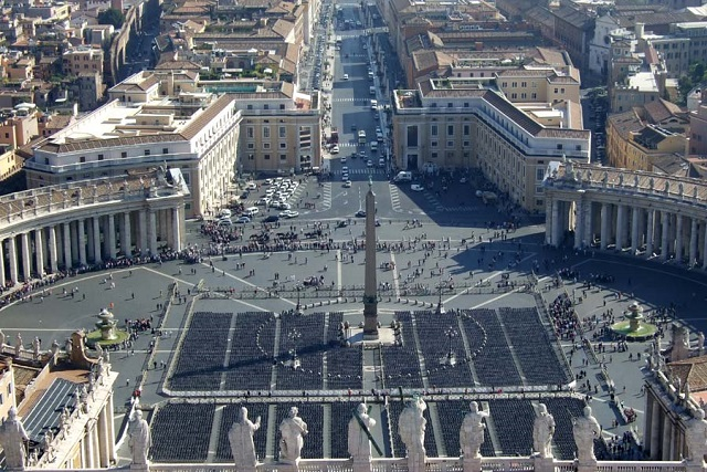 Photo by Margie Miklas View from the cupola at St Peter's Vatican Rome