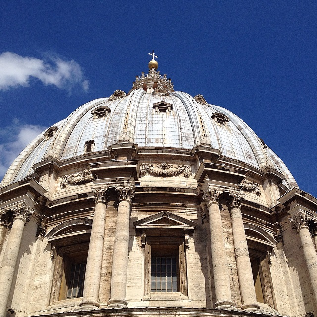 St. Peter's dome Photo by Domenica Marchetti