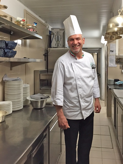Chef Cosimo in his kitchen  Photo by Margie Miklas