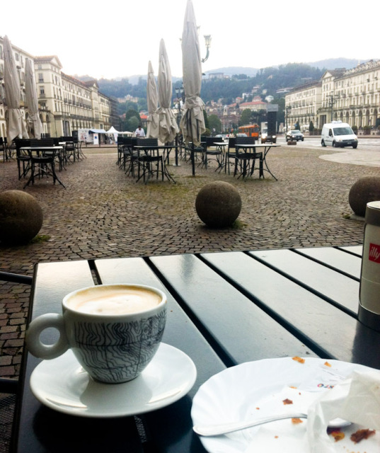 Coffee in Piazza Vittorio Photo by Lisa Watson