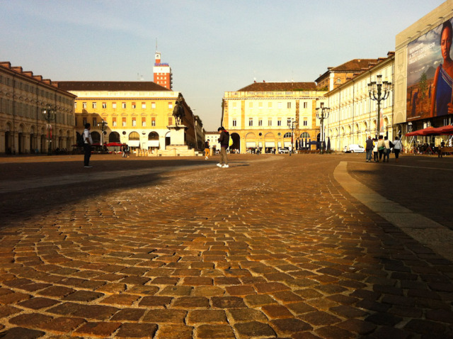 Turin Piazza San Carlo - Photo by Lisa Watson