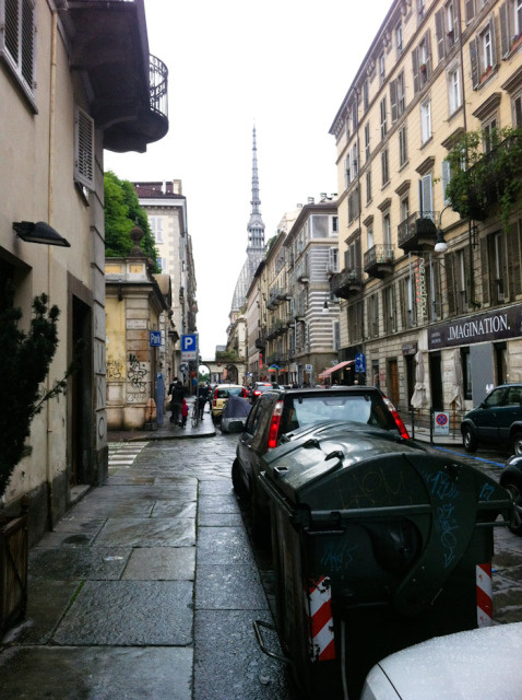 Typical street Turin - Photo by Lisa Watson
