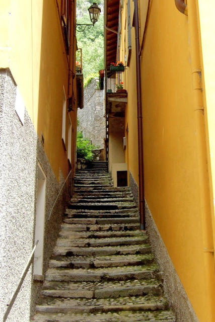 Varenna Narrow staircase  - photo by Margie Miklas