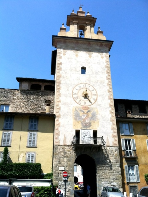 Bergamo Clock and Bell Tower Photo by Margie Miklas