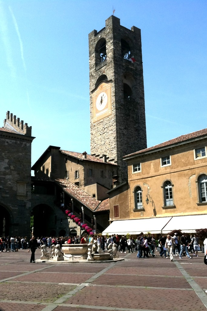 Bergamo Torre Civica in Piazza Vecchia Photo by Margie Miklas