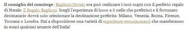italian concierge tip screen shot