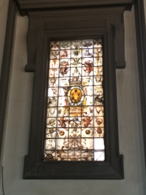 Library - stained glass window Photo by Victoria DeMaio