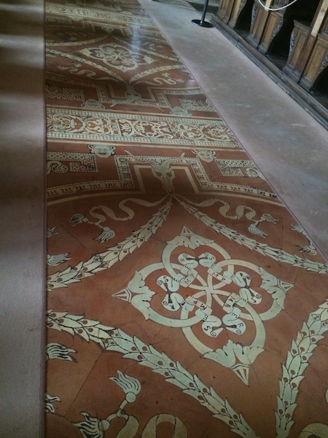 -Library tile floors Photo by Victoria DeMaio