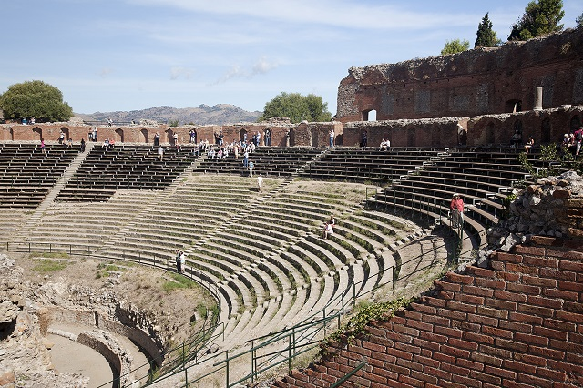 Teatro Greco Taormina Sicily     Photo by Michal David