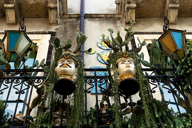 Sicilian Ceramic Heads, Taormina Photo by Michael David