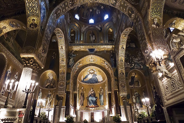 Golden Mosaic, Church of Church of Santa Maria dell'Ammiraglio Photo by Michael David