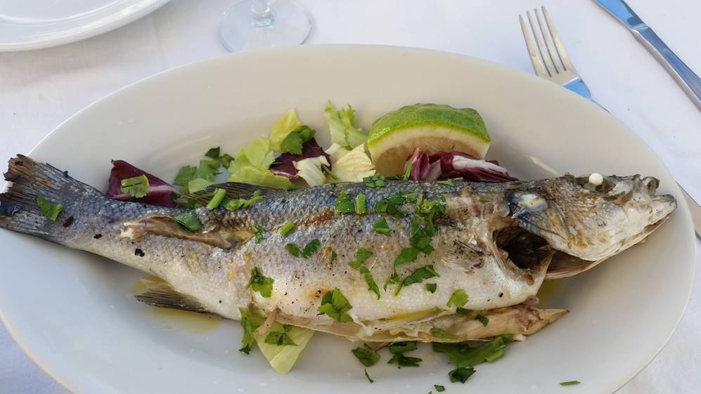 Fresh fish, a Procida specialty, of course! Photo by Karen Henderson