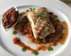 Sea bass at Relais Santa Croce Photo by Victoria De Maio