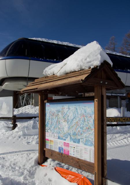 Sauze ski map Photo by Lisa Watson