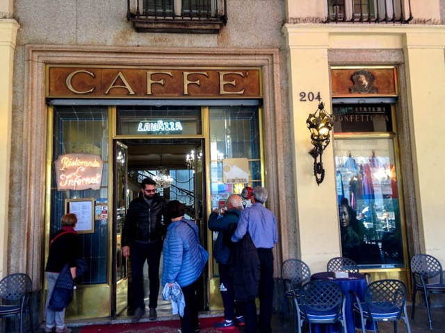 cafe entrance Turin Photo by Lisa Watson
